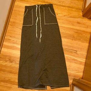 Tie Waist Maxi Skirt W/ POCKETS
